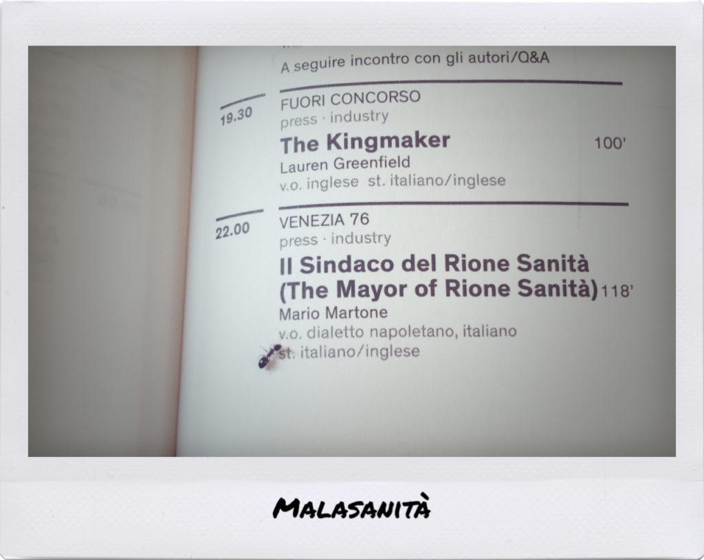 Programma venezia 76